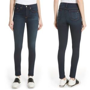 Rag & Bone High Rise Skinny in Bedford dark wash